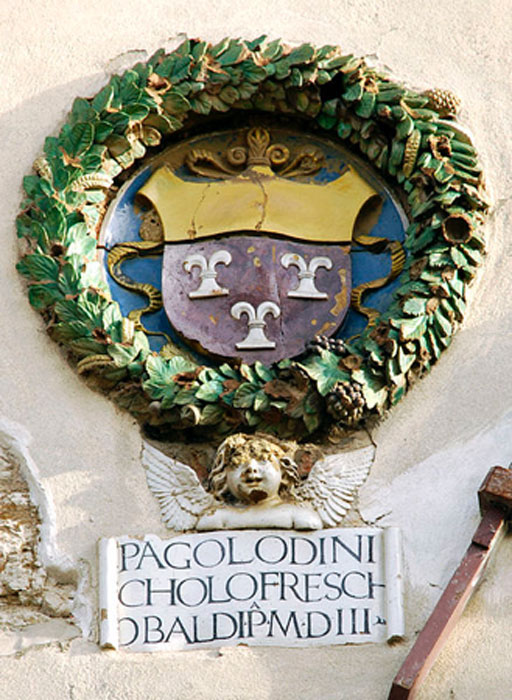 The Frescobaldi coat of arms at the Palace of the Podestà. (Cyberuly/CC BY SA 3.0)