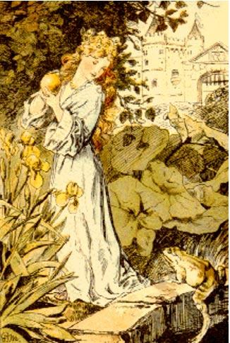 Illustration of The Frog Prince, P. Meyerheim