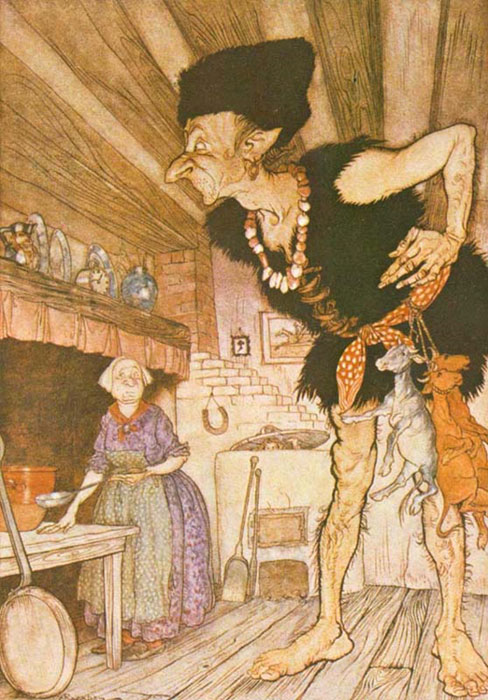 The Giant from Jack and the Beanstalk. (Project Gutenber / Public Domain)