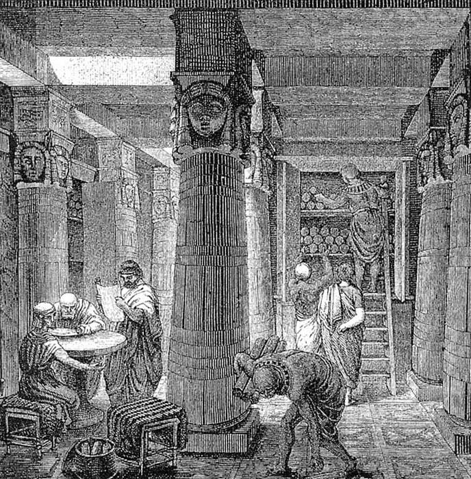'The Great Library of Alexandria.'