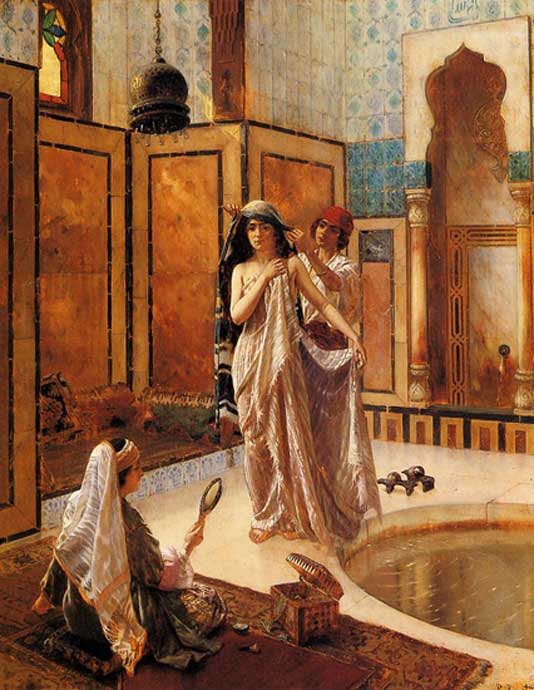 The Harem Bath by Rudolph Ernst (1854-1931)