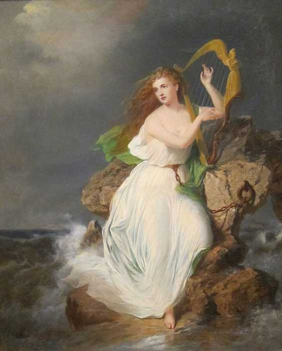 ″The Harp of Erin″ painting by Thomas Buchanan Read. (Public Domain) Erin is a modern variation of Eriu.