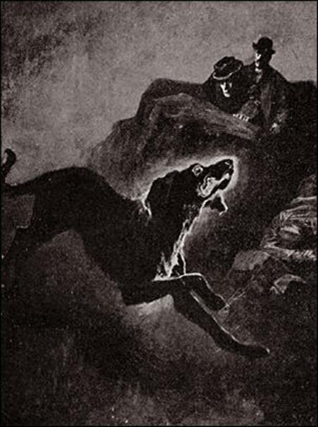 Illustration from 'The Hound of the Baskervilles.'
