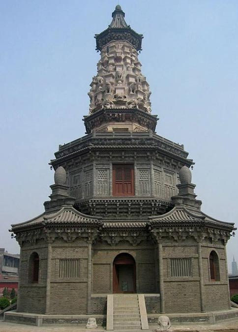 The Hua Pagoda of Guanghui Temple, China. A team of looters tomb raiders were caught red-handed tunneling into 1,400-year-old Chinese temple.