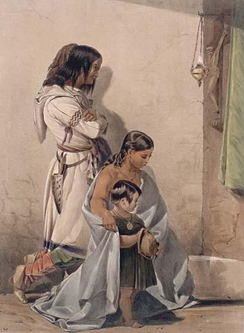 'The Huron Indians of Loreth' (c.1838) by John Richard Coke Smyth. (Public Domain)