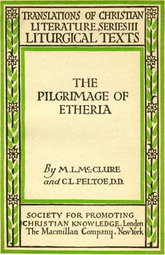 Cover of a translation into English of The Journey of Egeria.