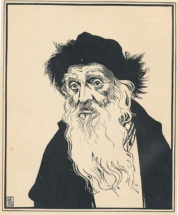 'The Kabbalist' by Ephraim Moshe Lilien. (Public Domain) The magical arts in Palermo were controlled by Jewish Kabbalists, until Scot turned up, that is!