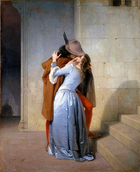 The Kiss, 1859. (Public Domain)