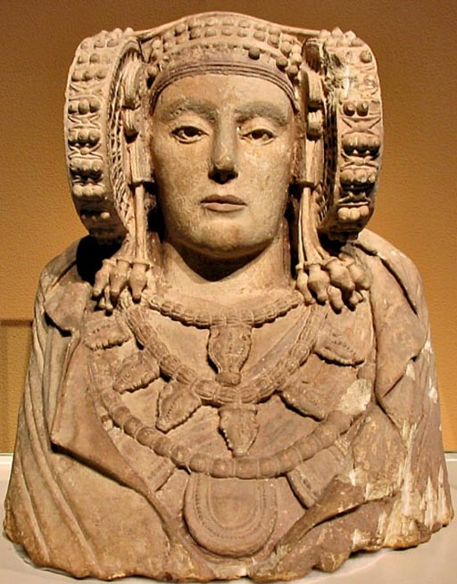 The Lady of Elche, one of the finer sculptures from the Iberian culture of the Iberian Peninsula.