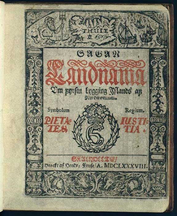 The Lándnámabók: H. Kruse, 1688 (public domain)