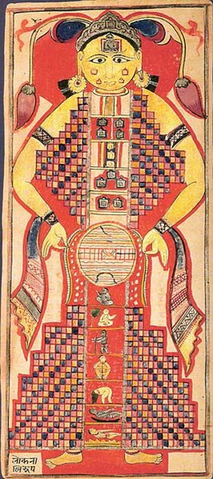 The Lokapurusha or 'cosmic man
