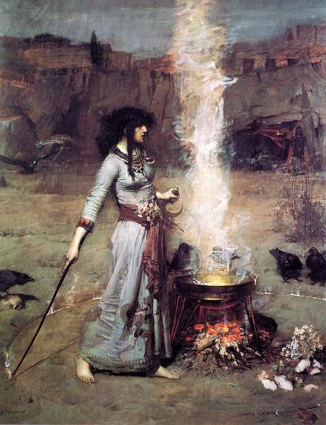 """The Magic Circle"" by John William Waterhouse. (1886)"