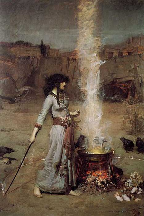 'The Magic Circle' by John William Waterhouse.
