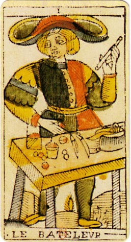 This card is often named The Magician in modern English language tarot.