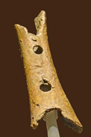 The Neanderthal cave bear femur flute of Cerkno Slovenia. (Magnus Manske / CC BY-SA 2.0)