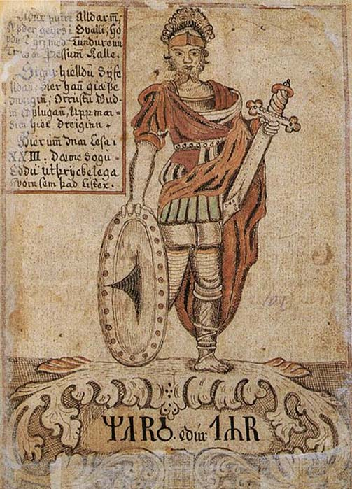 The Norse god Týr, here identified with Mars.