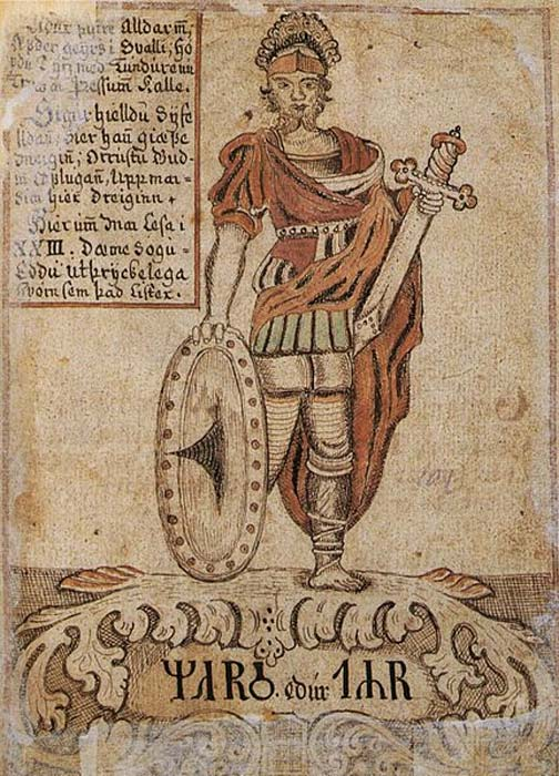 The Norse god Týr, here identified with Mars. (Public Domain)