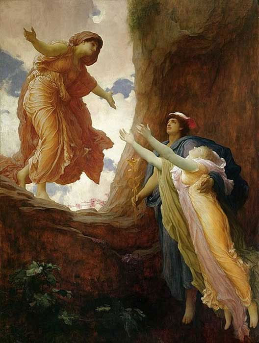 'The Return of Persephone' (1891) Frederic Leighton. (Public Domain)