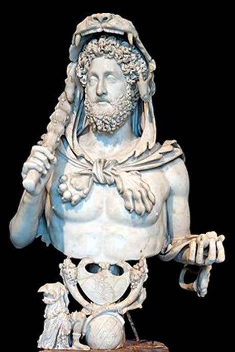 The Roman Emperor Commodus depicting himself as a ruler with the strength and authority of Herakles. (Author provided).