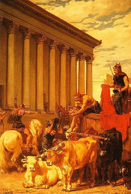 """The Sack of Rome"" in 410. By Évariste-Vital Luminais."