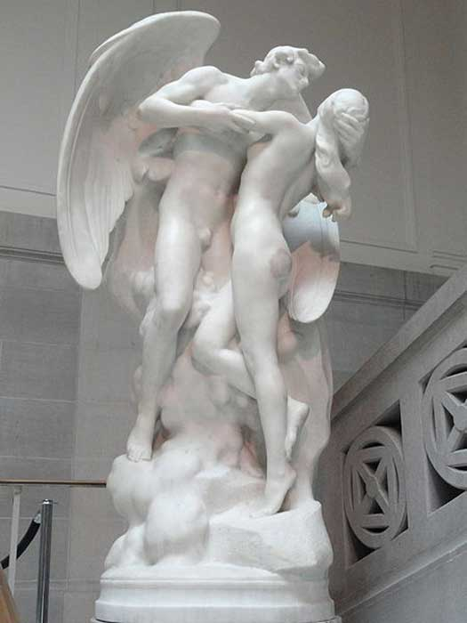 The Sons of God Saw the Daughters of Men That They Were Fair, by Daniel Chester French, modeled by 1918, carved 1923 - Corcoran Gallery of Art. (CC0)