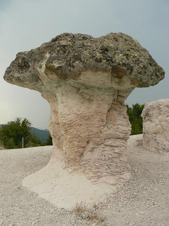 The Stone Mushrooms near Beli Plast Village, Bulgaria.