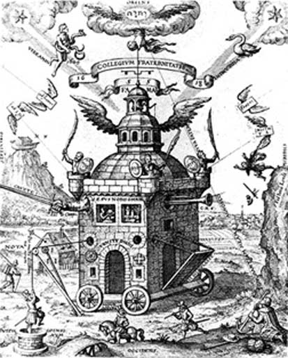 The Temple of the Rose Cross, by Teophilus Schweighardt Constantiens (1618) (Public Domain)