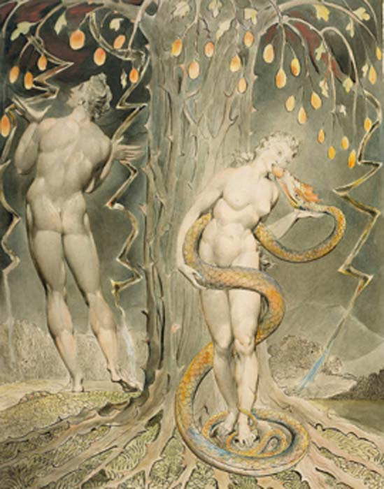 The Temptation and Fall of Eve, 1808 illustration from Milton's 'Paradise Lost'. (DcoetzeeBot / Public Domain)