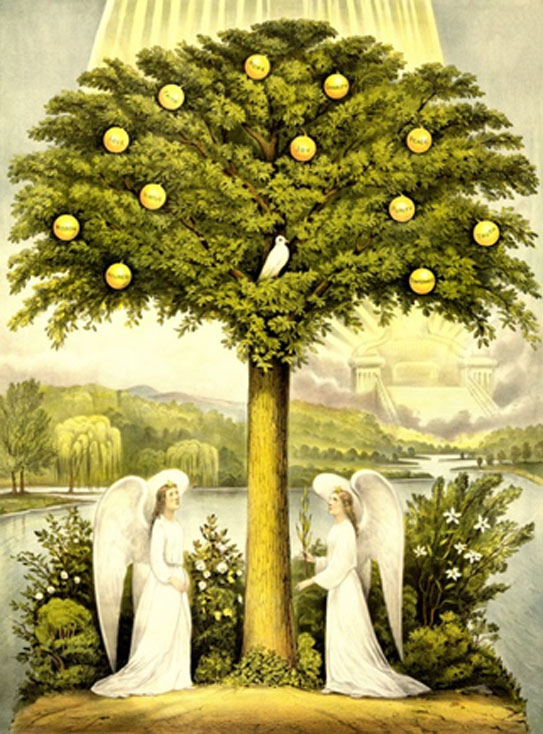 The Tree of Life. This image was originally published by Currier & Ives in 1892. (Public Domain).