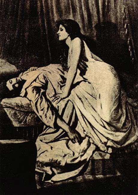 'The Vampire' (1897) by Philip Burne-Jones. (Public Domain)