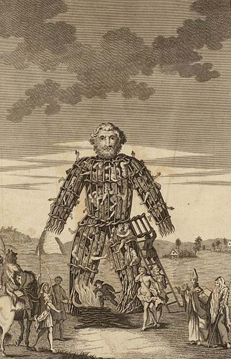 The Wicker Man of the Druids. (Public Domain)