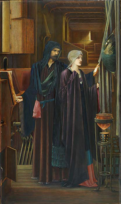 'The Wizard' (1896/1898) by Edward Burne-Jones. (Public Domain)