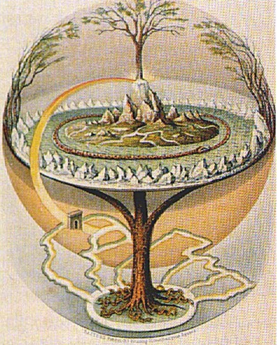 The Yggdrasil from Prose Edda, 1847.