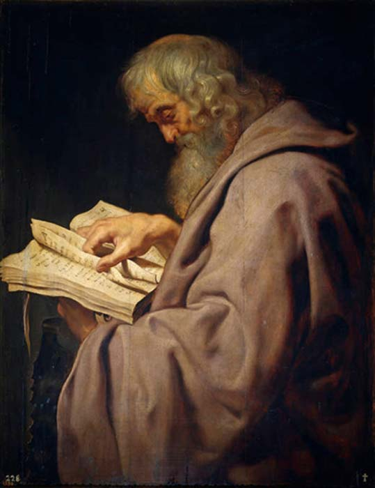 The Zealots were another rebel group, including the Apostle St Simon the Zealot, represented here by Peter Paul Rubens (c. 1611), from his Twelve Apostles series