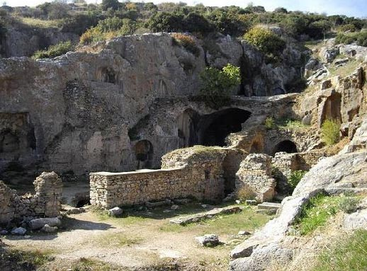 The ancient site of the Grotto of Seven Sleepers in Ephesus