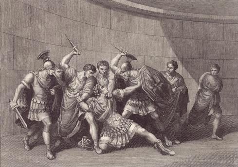 The assassination of Caligula