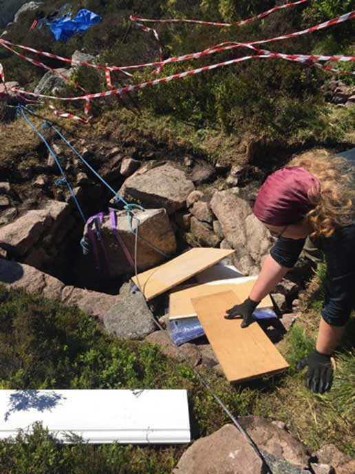The blocking stone was removed from the prehistoric well on the 7 June. (Northern Picts /University of Aberdeen)