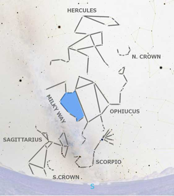 The blue area could equate with the shield central to the Agate. (Author provided).
