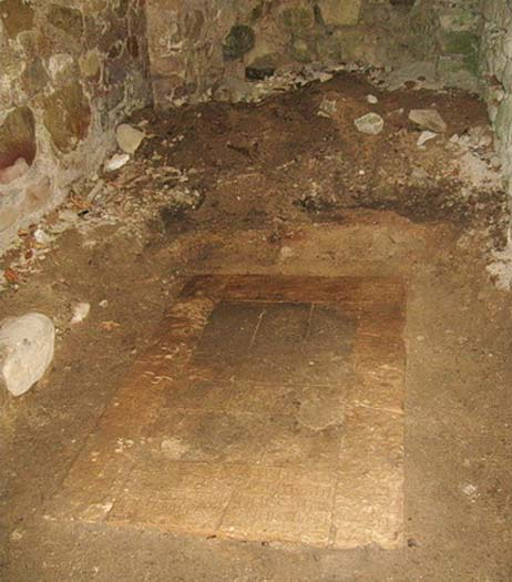 The burial place was unearthed in the southern section of the monastery. (Credit: Cultural Heritage Agency)