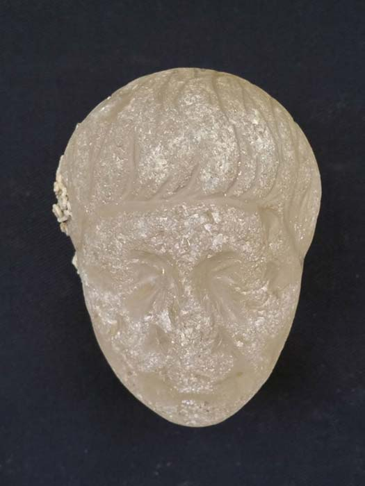 The carved crystal head that was found at the site of the wrecks. (Image: Egyptian Ministry of Antiquities)