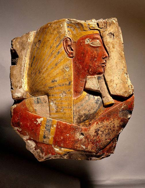 The color and style of this relief strongly suggest not only that it originated from the temple of Ramesses II at Abydos, but also that it was carved in the first two years of his reign, perhaps by the same artists who decorated the adjacent temple of his predecessor, Seti I. (Image: Brooklyn Museum)