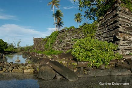 The coral reef city of Nan Madol
