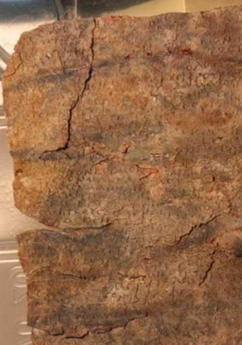 The curse tablet inscription was corroded and illegible. (Attilio Mastrocinque / University of Verona)