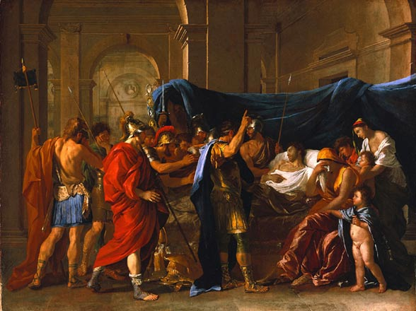 The death of Germanicus by Nicolas Poussin