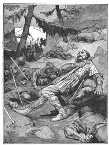 The death of Roland and his men.