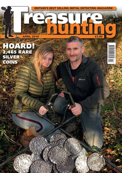 The find was reported in Treasure Hunting Magazine in April. (Treasure Hunting Magazine)