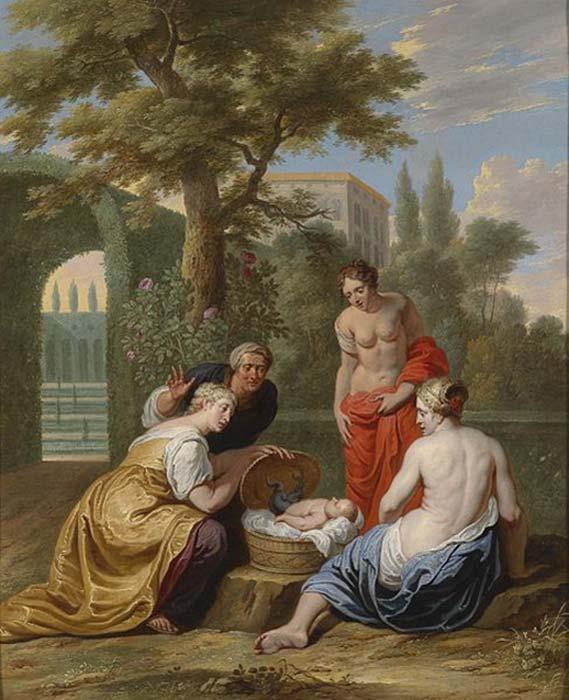 The finding of the infant Erichthonius by Cecrops's daughters. (Feldkurat Katz / Public Domain)