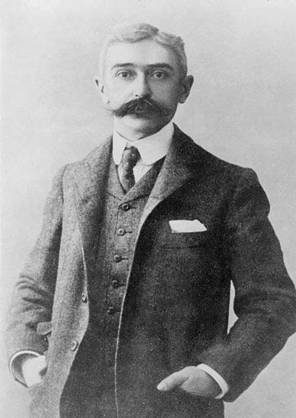 The founder of the Modern Olympic Games, Baron de Coubertin.
