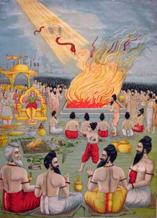 "The frame story for the epic Mahabharata is its telling on the occasion of a huge ""snake-sacrifice"" by the king Janamejaya. (Public Domain)"