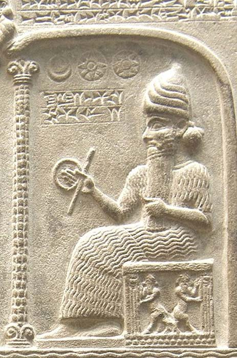 The god Utu from the Tablet of Shamash (CC by SA 1.0)